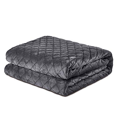 Dornroscn Bedspread (Gray, 48x72in) Removable Weighted Blanket Cover Ultra Soft Minky Quilted Throw Blanket Duvet Cover