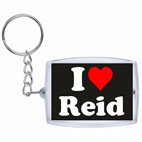Druckerlebnis24 Schlüsselanhänger I Love Reid in Schwarz - Exclusiver Geschenktipp zu Weihnachten Jahrestag Geburtstag Lieblingsmensch