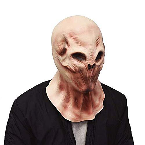 YO Mscara de cabeza extranjera espeluznante animal Halloween disfraz esqueleto depredador mscara teatro utilera ltex novedad juguetes