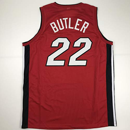 Unsigned Jimmy Butler Miami Red Custom Stitched Basketball Jersey Size Men's XL New No Brands/Logos