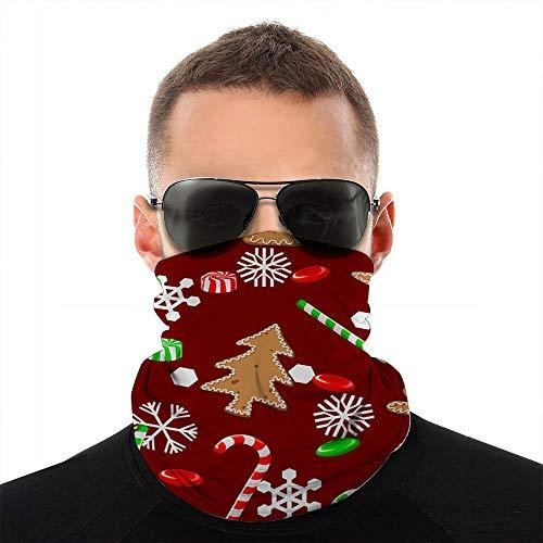 Kaixin J Weihnachtssüßigkeiten Kekse Schneeflocken Feiertage Gesicht Schal Abdeckung Outdoor Sport Laufen Frauen Männer Gesicht Abdeckung Vielfalt Gesicht Handtuch Hals Halsband