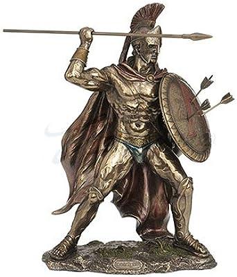 Unicorn Studios WU76534B4 King Leonidas Greek Warrior of Sparta - Bronze