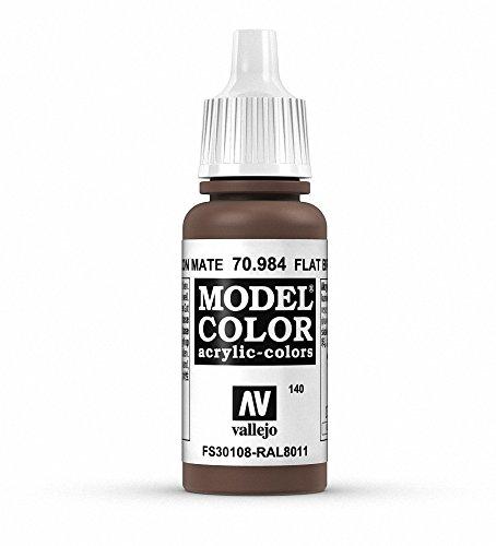 Vallejo Model Color Pintura Acrílica, Marrón (Flat Brown), 17 ml