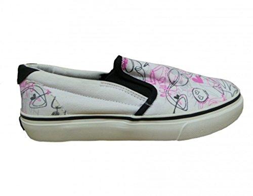 Osiris Skateboard Schuhe Slip On Scoop Girls White/Pink/Black, Schuhgrösse:37