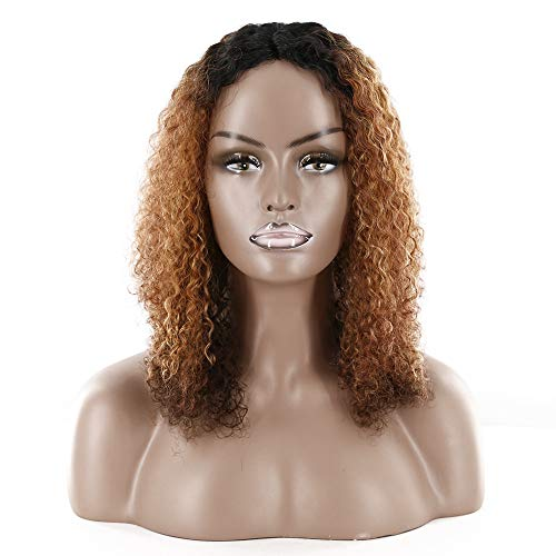 Perruque Femme Naturelle 13×4 Afro Kinky Curly U Part Short Bob Pre Plucked Full End 150% Density SMHair Perruque Bresilienne Lace Frontal Glueless Human Hair Wigs Remy Raide for Black Women