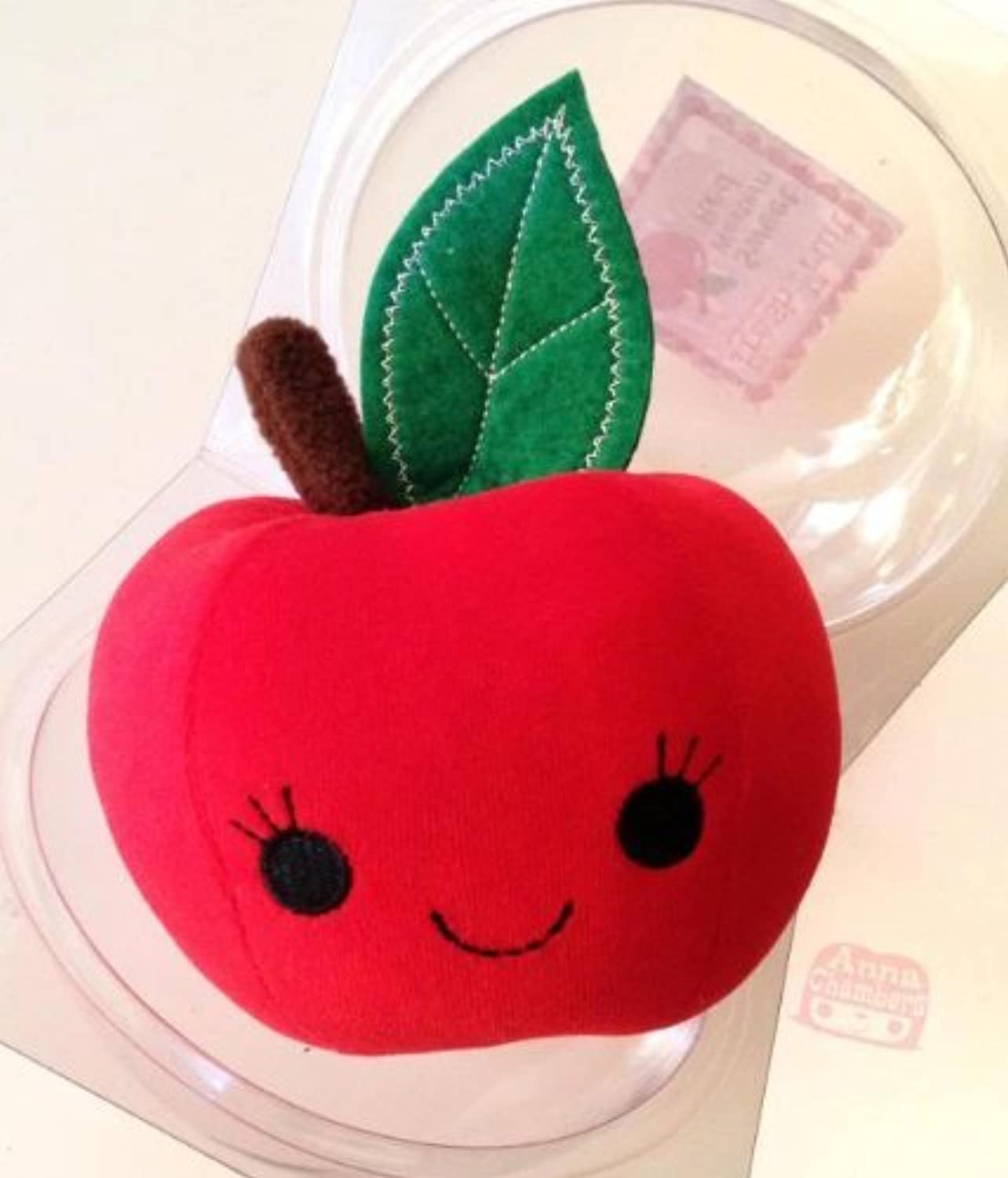 Juicy Western Red Apple Designer Plush Anna Chambers by Anna Chambers