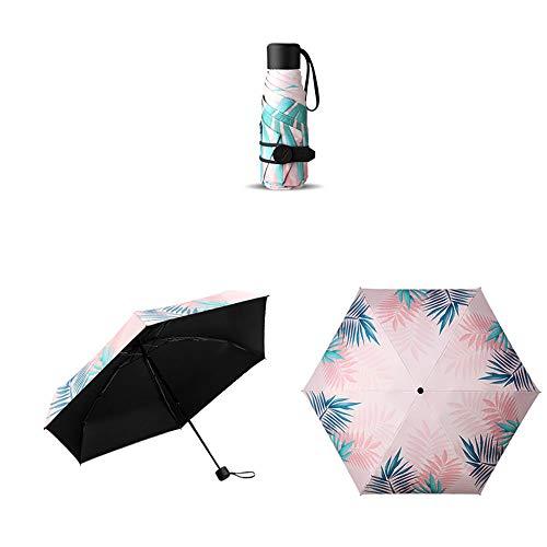 Regenschirm TaschenschirmSonnenschirm Sonnenschutz UV weiblich Ultraleicht klein Taschenschirm zweifach verwendbar Sonnenschutzfarbe, M