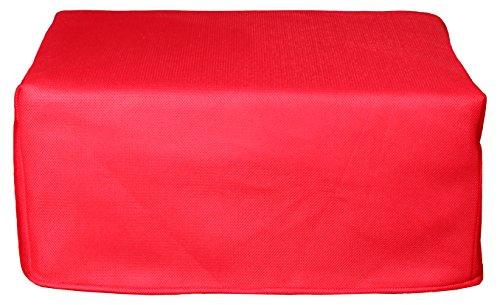 CANAPES TISSUS BRIO Pouf Convertible Canapé-Lit, Polyester, Rouge, 81 x 62 x 36 cm
