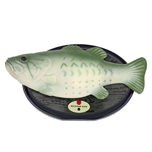 Lustige elektronische Gesang Fisch Kunststoff beweglichen Fisch Spielzeug Simulation Fische Parodie batteriebetriebenes Spielzeug für Halloween Dekoration