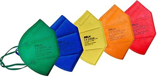 Rainbow Edition 40 FFP2 Masken bunt je 8x rot gelb grün orange blau...
