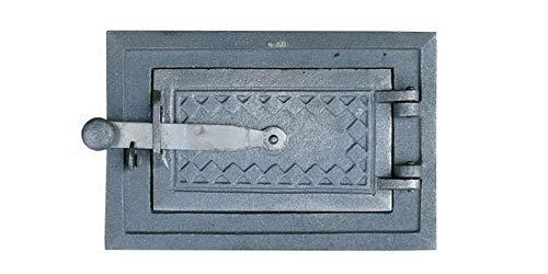QLS REVISIONSTÜR 26 X 17 cm AUS GUSSEISEN BACKOFENTÜR HOLZOFENTÜR OFENTÜR KAMINOFENTÜR