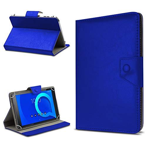 UC-Express Tablet Tasche für Alcatel 1T 10 Hülle Hülle Schutz Cover Schutzhülle Etui Kunstleder Universal Tablettasche Standfunktion Farbauswahl, Farbe:Blau