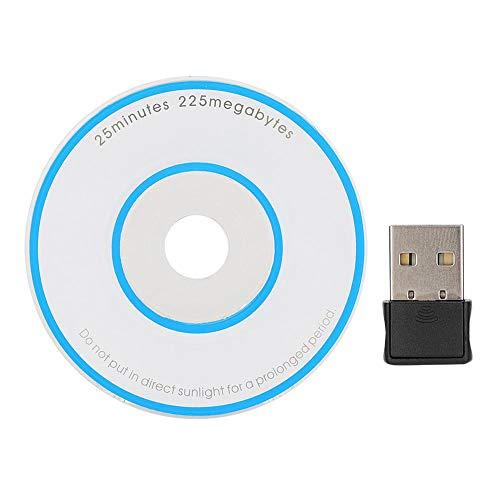 ASHATA Network Card Adapter, Mini USB2.0 draadloze netwerkkaart Adapter, 2.4-2.4835 GHz WiFi NIC Dongle, draadloze ontvanger voor het ontvangen van WiFi-signalen, sterk en duurzaam
