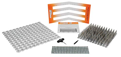 "Extreme Max 5001.5514 144-Stud Track Pack with Round Backers, 1.00"" Stud Length"