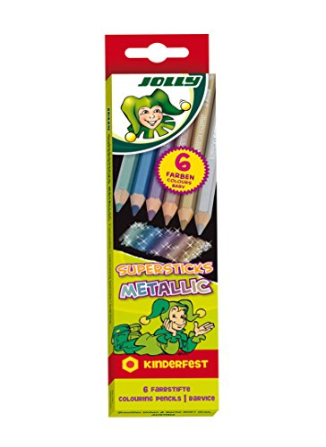 JOLLY 3000-0450 - Supersticks Classic, Metallic, Lernmaterialien, 6er Set