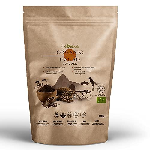 MySuperfoods Cacao Orgánico en Polvo 500g, Fuente Natural de Potasio
