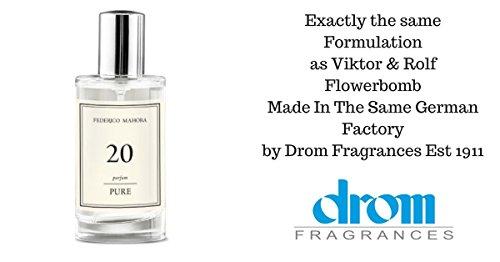 Puro 20Eau de Parfum Spray per donne. Stesso formulazione Flowerbomb Made in the Same German Factory by Drom fragranze. Eau de Parfum (ml).