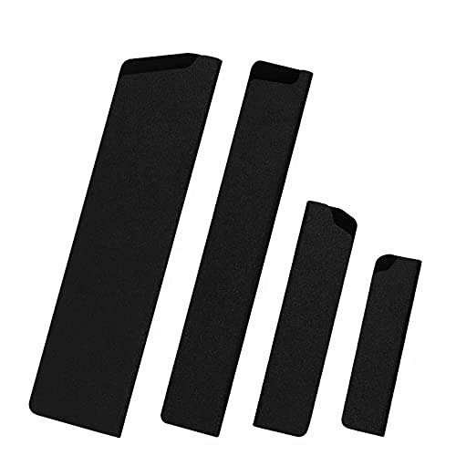 XXXX Universal Klingenschutz/Messerschutz Set 4 Stück, Messerschutzhüllen für Messer Set, geeignet für Brotmesser, Schinkenmesser, Brotzeitmesser, Kochmesser usw.