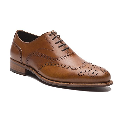 Prime Shoes Oxford Full Brogue Rahmengenäht Crust Cognac Schnürschuh Aus Feinstem Kalbsleder D 43,5/UK 9 ½
