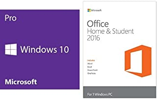 Windows 10 Pro 64 Bit System Builder OEM with Microsoft Office Home and Student Key Card