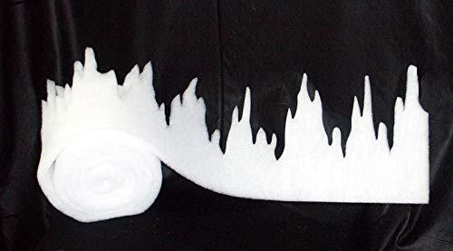 Everflag Schneewatte - Deko Eiszapfenfries 475 cm
