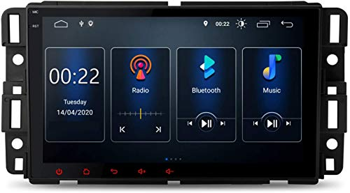 MIVPD Compatible para Chevy Chevrolet Buick GMC Android 10.0 Sat Nav FM Radio Doble DIN Auto Audio Player Coche Estéreo De 8 Pulgadas Pantalla Táctil LCD Monitor GPS Navegación,4 Core WiFi 1+16GB