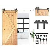 CCJH Kit de rieles para puerta corredera de 200 cm, juego de percha en forma de Y para puerta individual