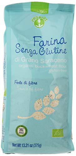 Probios Farina di Grano senza Glutine Saraceno Bio - Confezione da 6 x 375 g