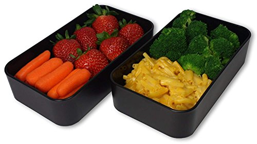 Product Image 4: THE ORIGINAL Japanese Bento Box (Upgraded 2020 Black & Bamboo Design) w/ 2 Dividers + Larger Utensils w/Holder – Leakproof Lunch Container
