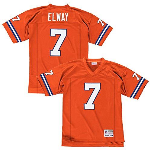Mitchell & Ness John Elway Denver Broncos Orange Throwback Jersey XX-Large