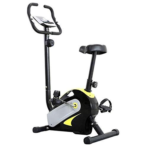 YSYYSH Spinning Bike Magnetic Control Mute Attrezzature for Il Fitness, Piscina Coperta Mini Sport Bike e Heart Monitor Nero Allenatore