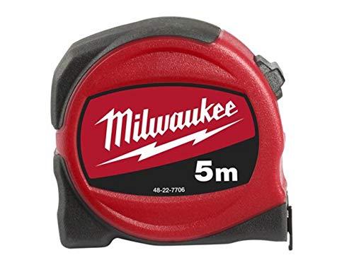 Milwaukee 4932451639plata cinta métrica C5/25, rojo/negro