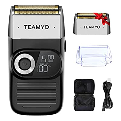 Foil Shavers for Men, 2 in 1 Head Shavers, Aluminum Foil 3-Speed Adjustable Clippers for Men, Washable Foil Shaver with LCD Display, Professional Beard Trimmer with Replacement Blade