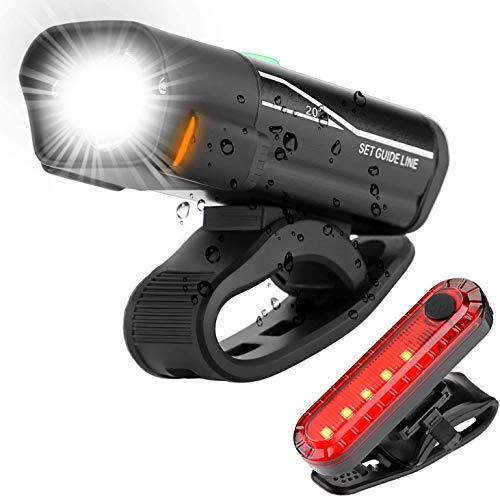 Juego de luces LED para bicicleta, homologadas por StVZO (StVZO), recargables, resistentes...