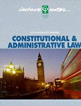 Constitutional & Administrative Law Lecture Notes