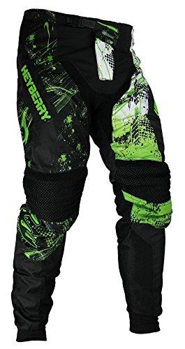 HEYBERRY Motocross Enduro Quad Hose schwarz grün Gr. L