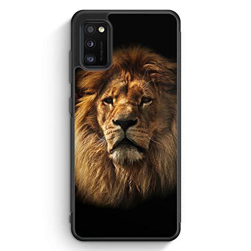 Löwe Lion Foto - Silikon Hülle für Samsung Galaxy A41 - Motiv Design Tiere Schön Jungs Männer - Cover Handyhülle Schutzhülle Hülle Schale