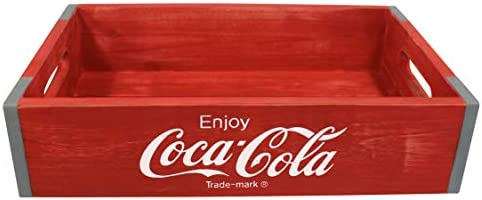Leigh Country CP 98251 Red Vintage Wooden Coca Cola Medium Serving and Storage Crates product image