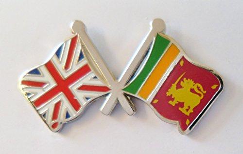 1000 drapeaux du Sri Lanka et drapeau du Royaume-Uni