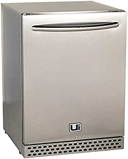Urban Islands 4.9 cu ft. Small Mini Stainless Steel Outdoor Bar Refrigerator