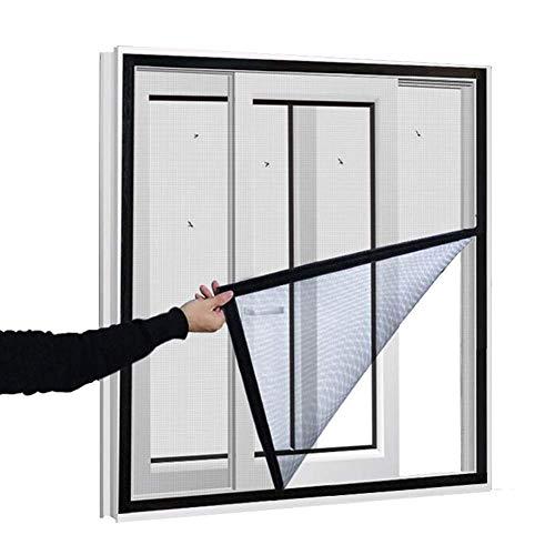 Zanzariera rete di sicurezza per gatti per finestre,Rete per gatti semi-trasparente a telaio completo anti-caduta, rete di protezione per insetti zanzare, 120 x 180 cm
