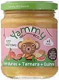 Yammy, Pack Potitos Ecológico de Ternera (Verduras, Ternera, Quinoa) - 12 tarritos de 195 gr. - 100% natural / 100% ecológico