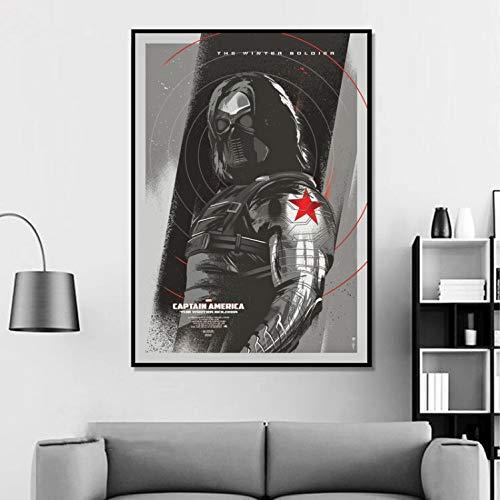 Soldado De Invierno Avengers Superhero Poster Arte De La Pared Cartel De La Película Decoración Para El Hogar Pintura Decoración Para El Hogar Vivir Impresión De La Lona Sin Marco 40 * 60 Cm
