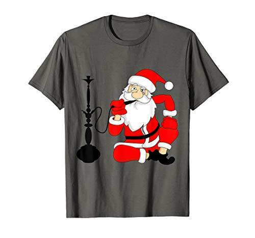 Weihnachtsmann raucht Shisha Wasserpfeife Geschenk Outfit T-Shirt