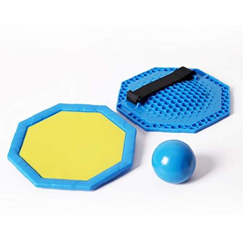 Yeglg Raqueta de bolas con ventosa de palo, juego de bolas de remo y atrapar, juegos de bolas de remo, jardín de infantes de lanzar raqueta no tóxica, juguetes para niños al aire libre