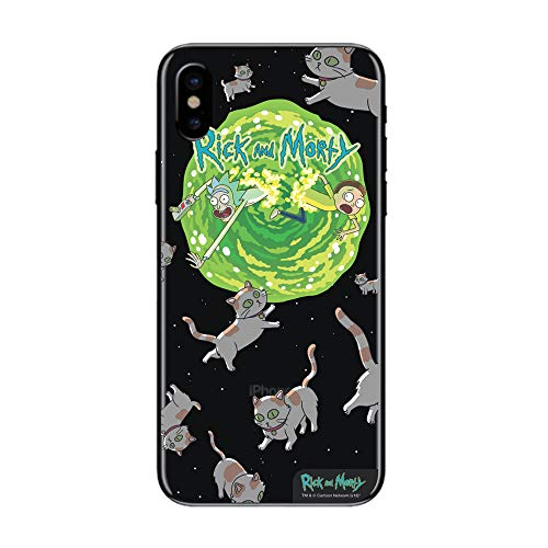 Capa Celular Cats Rick and Morty Iphone X, Beek Geek's Stuff, Capa Protetora Flexível, Transparente