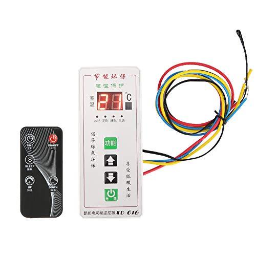 Weikeya Eléctrico Temperatura Controlador, Termostato Controlador Hecho de Abdominales y Electrónico Componentes Temperatura Controlador por Más Que 5 Segundos a Comienzo La Dormir Función (Blanco)