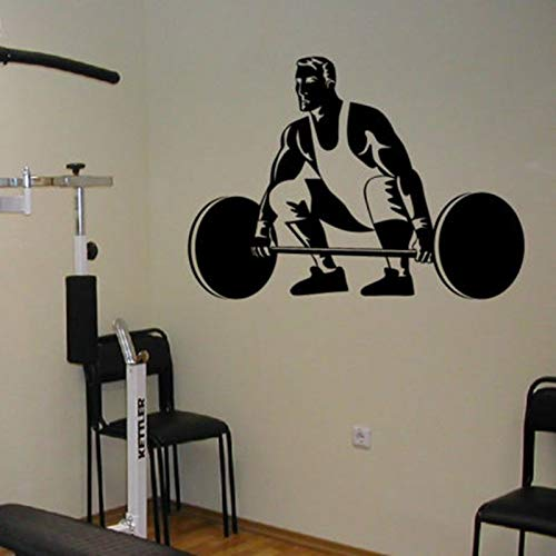 zaosan Wandaufkleber Gym Aufkleber Fitness Langhantel Crossfit Aufkleber Bodybuilding Poster Vinyl...