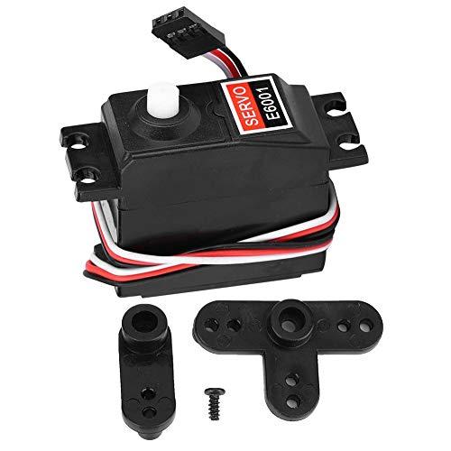 VGEBY Servo RC, Scala 1:10 6KG E6001 Telecomando Gear Truck Gear Servo analogico RC Crawler Car Ricambi aggiornamento Parti di Ricambio per HSP 94105 94106 94166 1/10 RC Car