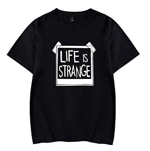 BESTHOO Herren Life is Strange Sommer T-Shirt Casual Print Brief Rundhals Kurzarm Tops Plus Größe T-Shirt Lose Tops